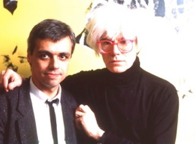 Als stern-Reporter mit Andy Warhol in der Factory, New York, 1985
