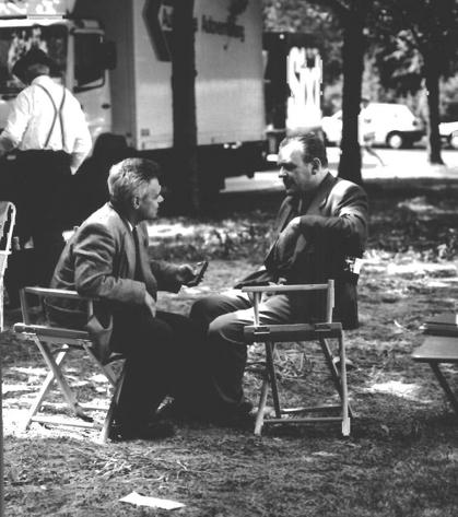 Als Tempo-Reporter mit Anthony Hopkins, Berlin 1992