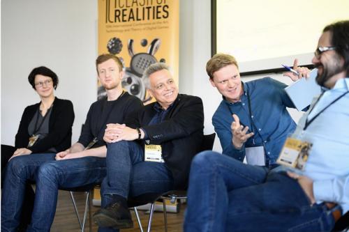 Panel: Katarzyna Marak, Jan Svelch, Gundolf S. Freyermuth, Hanns Christian Schmidt, Ian Bogost